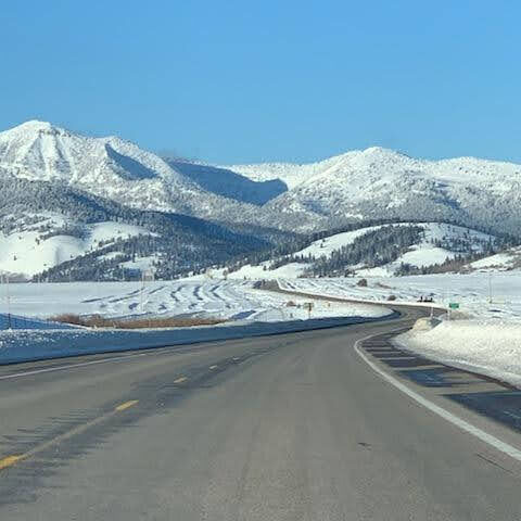 Montana roads tempt the car home from California