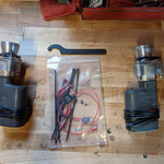 Complete kit: eRams with dust boots, pin wrench, module, and installation pieces